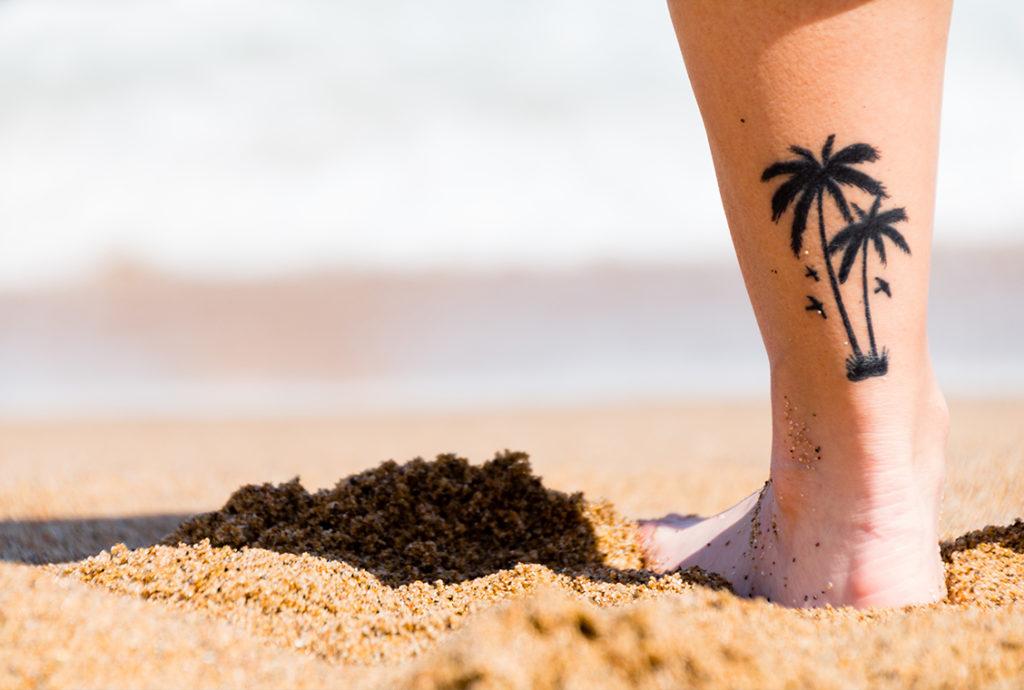 tatovering på stranda