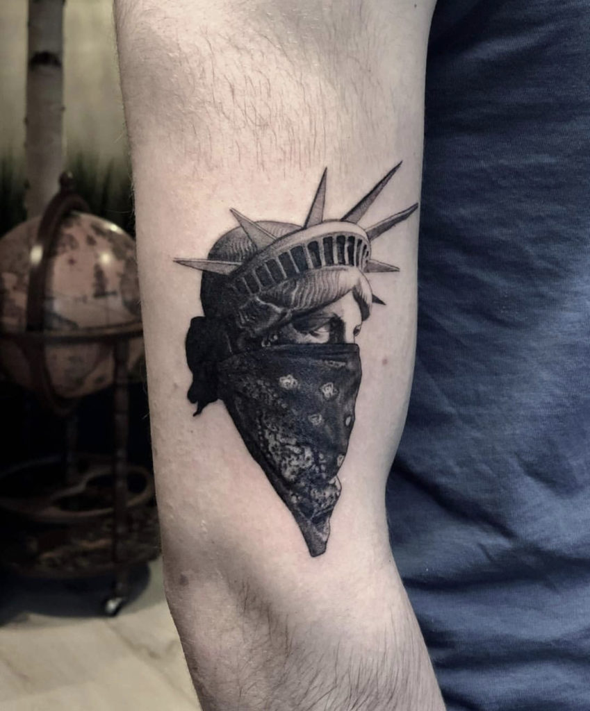 Statue of Liberty tattoo