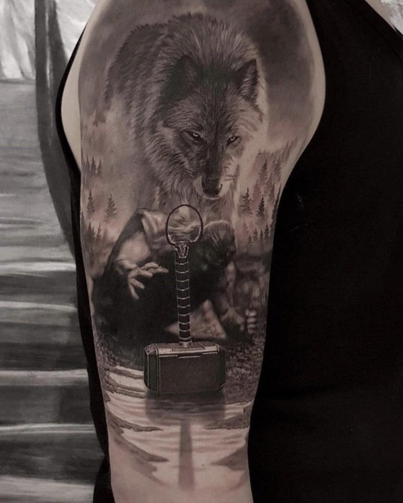 realistic thor tattoo