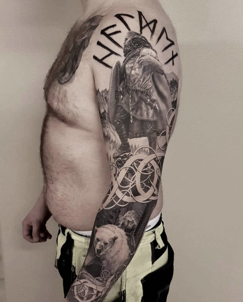 realistic viking tattoo